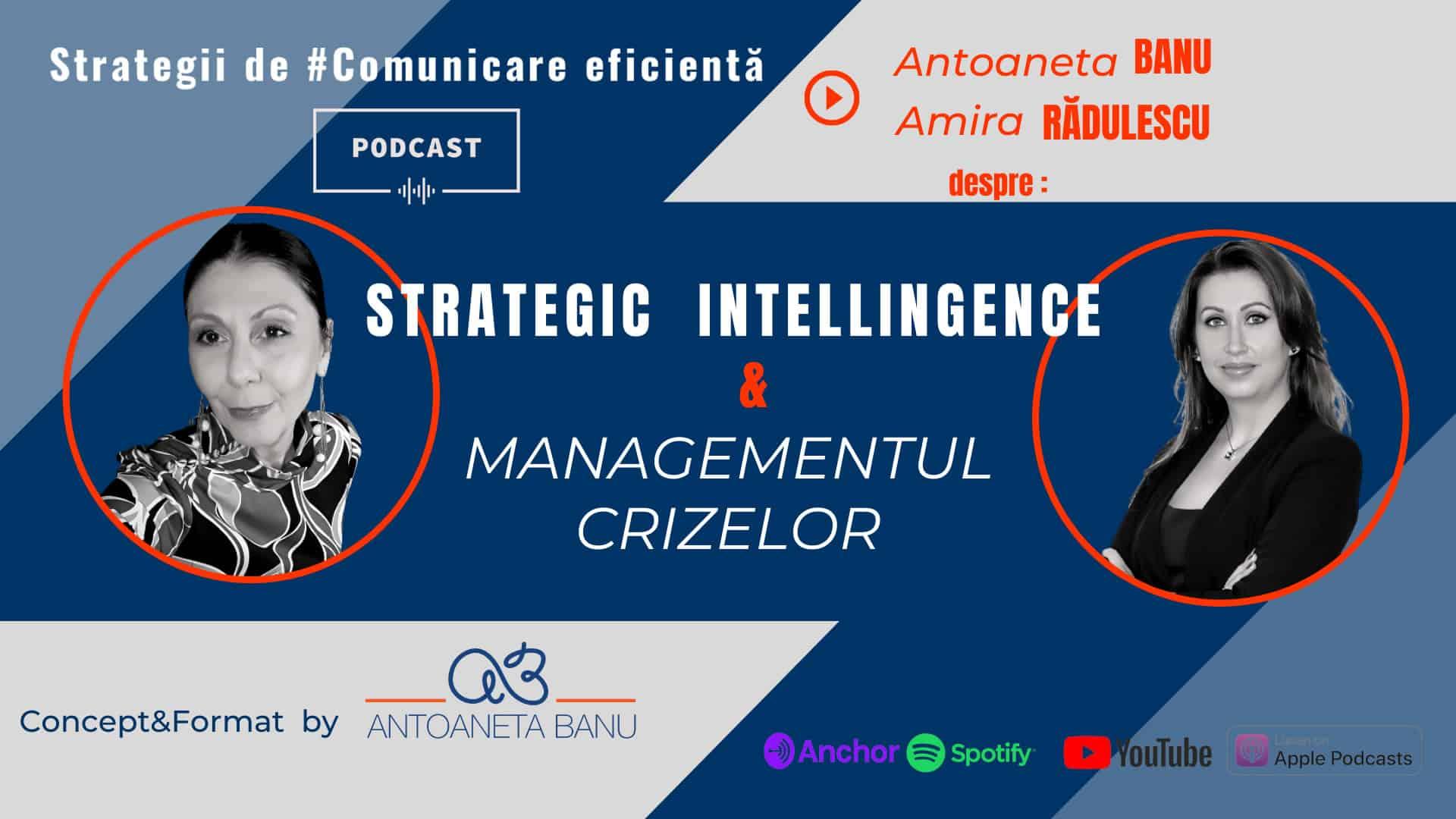 #StrategicIntelligence #ManagementulCrizelor